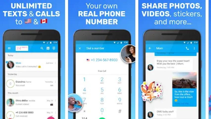 Text Me MOD APK Hack Unlimited Credit & Calls [Premium