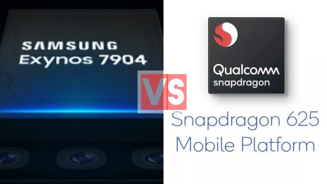 Samsung Exynos 7904 Vs Qualcomm Snapdragon 625